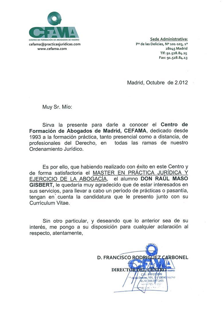 Raúl Masó Gisbert - Abogado | Sobre Mi